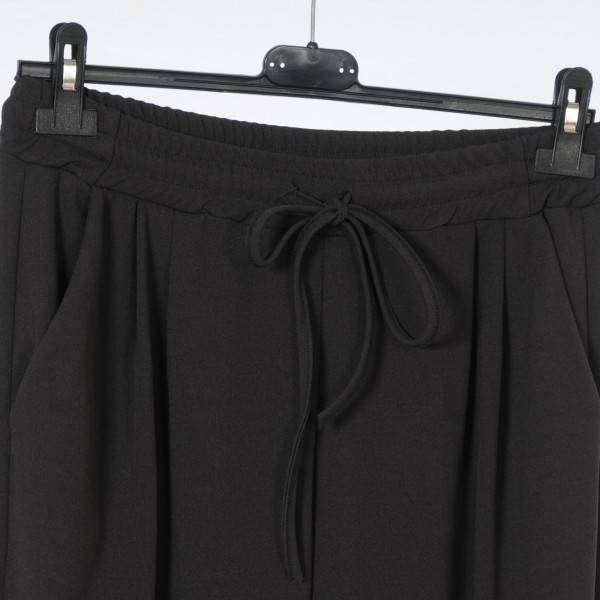 Bundfaltenhose im Pull On Style dunkelgrau M-XXL