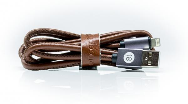 Concept 18 Leder-Ladekabel 2 in 1 für IOS und Android in braun