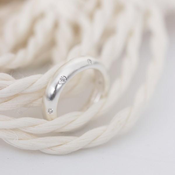 Ring silber 925er mit Steinchen Gr. 48-58