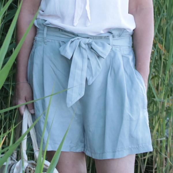 Tencil Shorts hellgrau