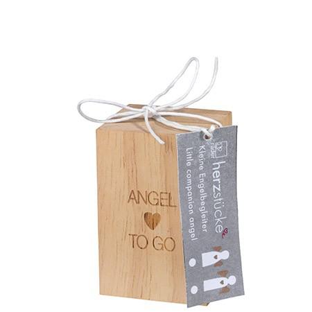 """Räder Porzellanengel """"Angel to go""""in Holzbox"""