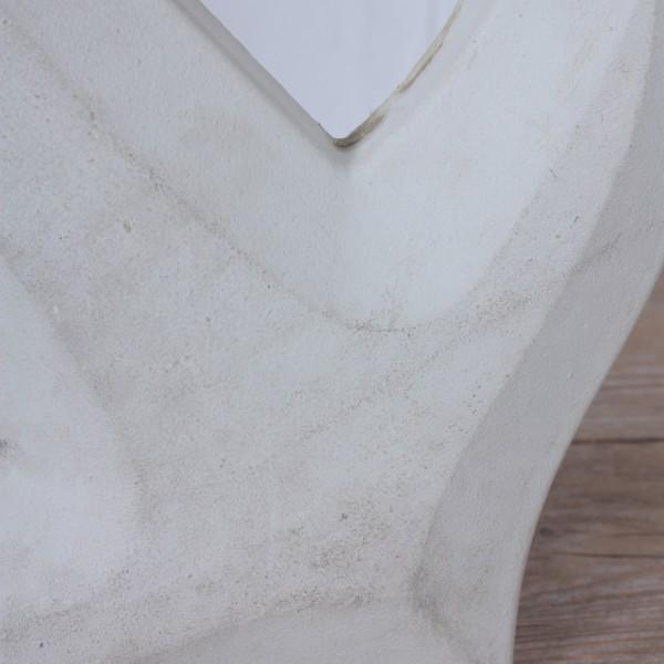 Anker aus Holz in weiß glatt mit Tampen