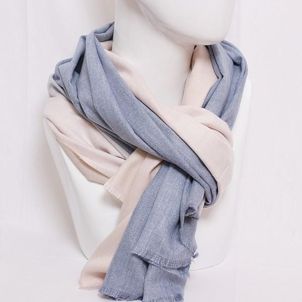 Schal mit Farbverlauf in blau- beige