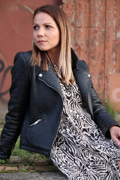 Hemdkleid Kleid Zebra Print