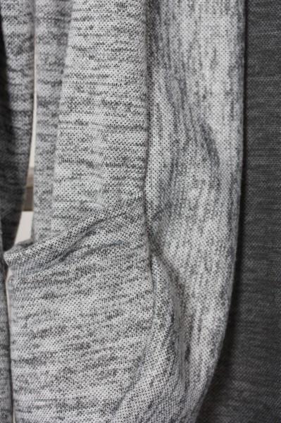Offener Cardigan grau meliert