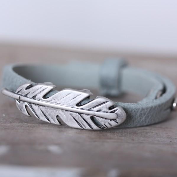 Armband mint/grün/grau für Schiebeperlen