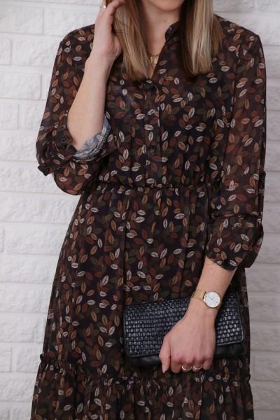 Kleid Autumn schwarz braun