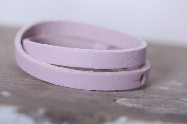 Armband doppelt gewickelt rosa für Schiebeperlen