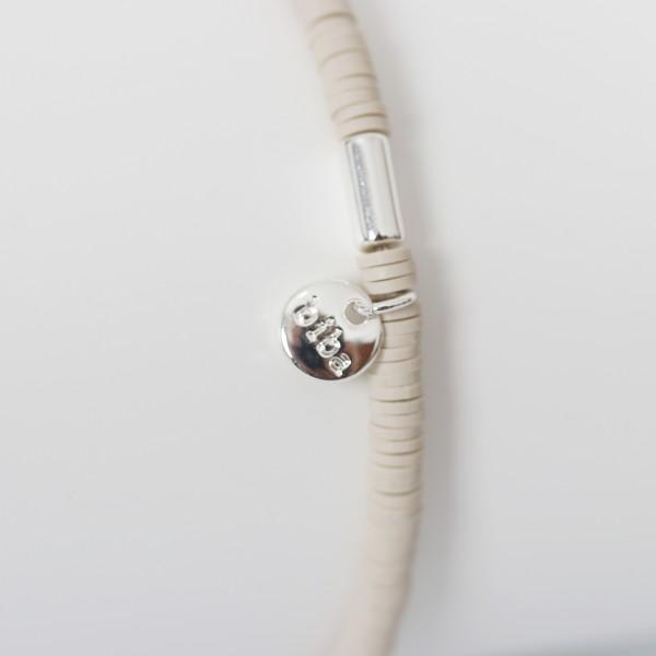 Biba Perlenarmband natur Beige Plättchen