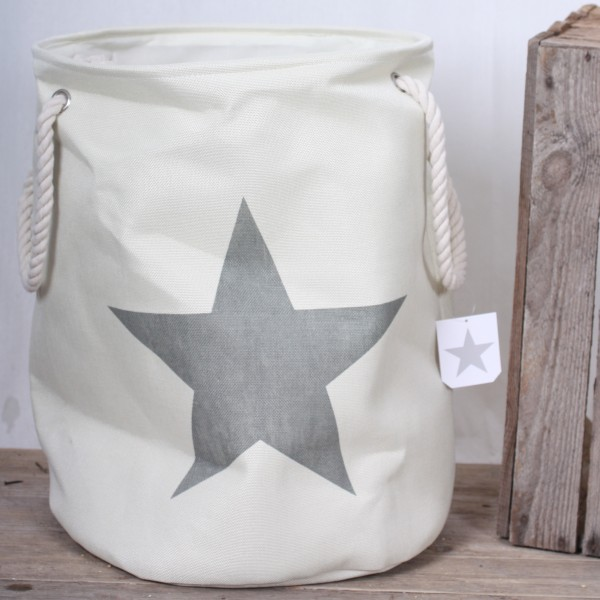 Wäschesack creme mit einem grauen Stern