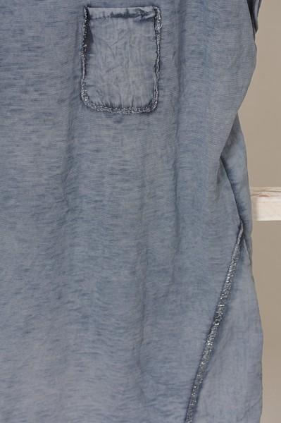 T Shirt blau zarter Silberfaden