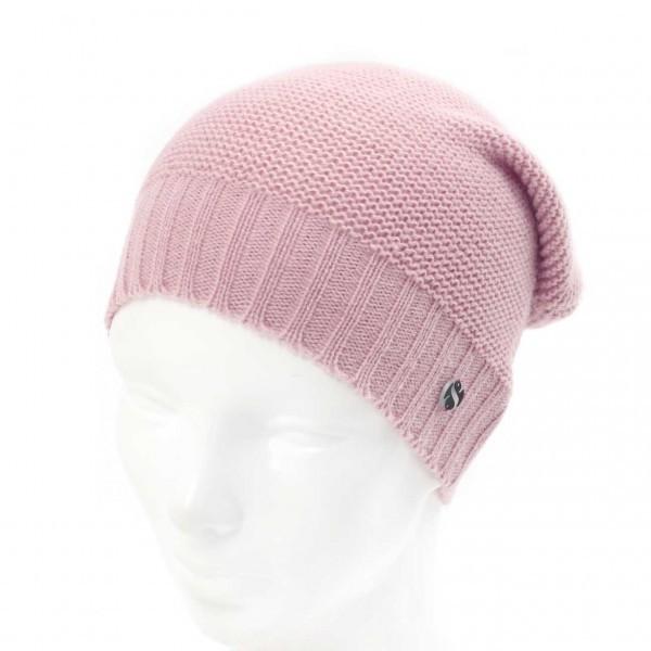 Mütze Strick / Beanie altrosa