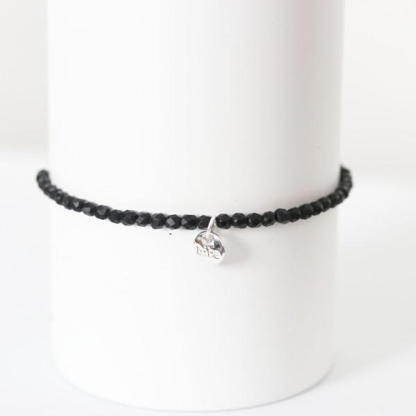 Biba Perlenarmband Crystal schwarz
