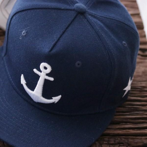 Snapback/ Cap Anker marineblau
