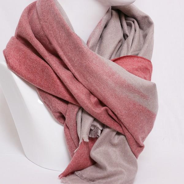 Schal mit Farbverlauf in taupe- rot
